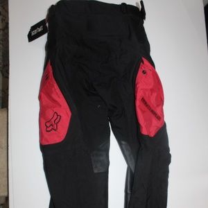 Fox Panther Race Pant Size 28 Black Red Motocross